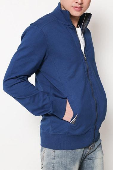 Áo khoác nam xanh duong