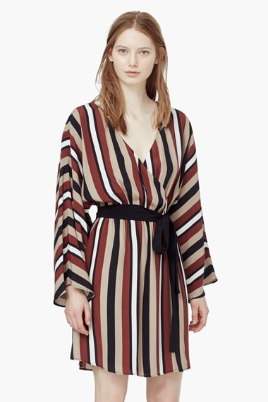 Đầm flowy striped